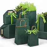 Forest Green Coordinated Paper Bags and Boxes