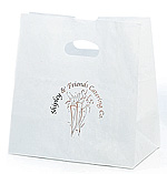 Die-cut Frosted Take Out Bag