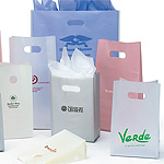 4mil Frosted High Density Bags with DieCut Handles