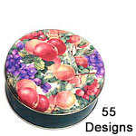 Printed Round Cookie Tins