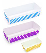Paper Baking Loaf Pans in Fun Colors
