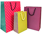 Geometric Gift Totes Rope Handle Assortment