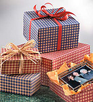 Gingham Print Gift Boxes