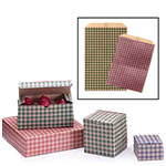 Gingham Coordinated Paper Bags, Boxes, and Giftwrap