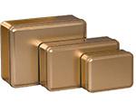 Gold Color Metallic Tins