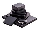 'Great Lakes' Black Leatherette w/ Black Base Photo Boxes