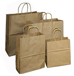 Brown Kraft Nifty50 Paper Bags w/ Twisted Paper Handle