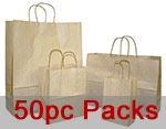 Nifty50 Oatmeal  Paper Bags w/ Twisted Paper Handle