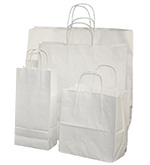 White Kraft Nifty50 Paper Bags w/ Twisted Paper Handle