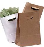 Square Bottom Paper Bags w/Die Cut Handles