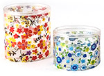 PET Clear Floral Print Cylinder Boxes