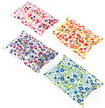PET Clear Floral Print Puff Pouch