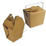 Matte Kraft Paper Take Out Boxes