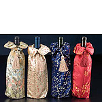 Assorted Chinese Style Floral Wine Bags w/Tassel