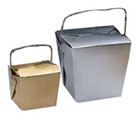 Metallic Colored Paper Take Out Boxes