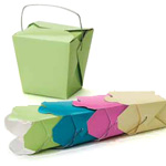 Matte Colored Paper Take Out Boxes