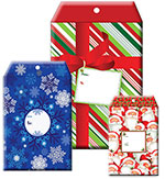 Holiday Tyvek w/Foam Padding Self Seal Mailers