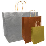 Imported Metallic Color Paper Bags on Kraft