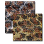 Jeweled Cheetah Fabric Skins Ribbon