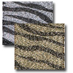 Jeweled Zebra Fabric Skins Ribbon