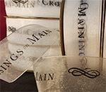 Sheer Organza Custom Printed Satin Ribbon