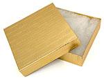 8x8x2 Rigid Fiber Filled Gold Mosaic Box