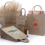 Custom Printed Jute Shopping Bags