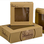 Baker's Choice Kraft Windowed Cake Bakery Boxes