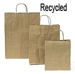 Brown Kraft Recycled Paper Bags with Twisted Paper Handle
