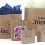 European Kraft Paper Gift and Shopping Totes w/ Rope Handles