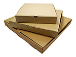 Plain Corrugated Kraft Pizza Boxes