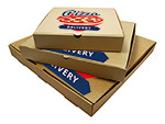 Custom Printed Corrugated Brown Kraft Pizza Boxes