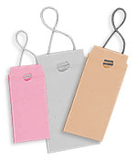 Blank White Elastic Tags