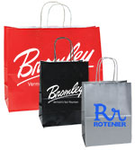 Lucky Printed Gloss Color Shopping Bags