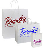 Lucky Printed Gloss White Shopping Bags