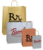 Printed Metallic Color Shopping Bags