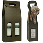 Marrone Chocolate Pebble Italian Wine Boxes