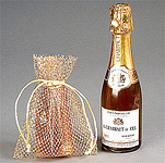 Metallic Mesh Jewelry and Gift Drawstring Pouch