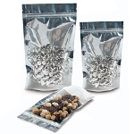Metallic/Clear Stand Up Pouches