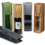 Metallic Trimmed Wine Bottle Bags