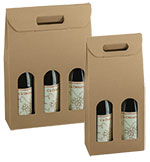 Smooth Natural Kraft Italian Wine Boxes