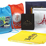 Custom Printed NonWoven Rope Handle Shopping Bags