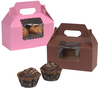 Ohio Valley Windowed 2 Cupcake Gable Boxes