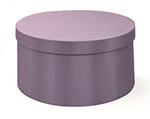 Lavender Round Fabric Box