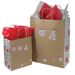 Ornament Designed Paper Shopping Bags
