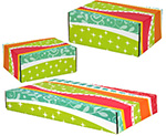 Funky Pattern Side Seal Shipping Boxes