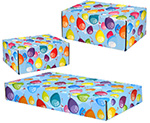 Colorful Balloons Side Seal Shipping Boxes
