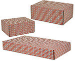 Tile Pattern Side Seal Shipping Boxes