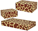 Giraffe Print Side Seal Shipping Boxes