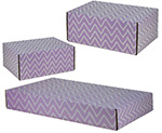Purple Zig Zag Side Seal Shipping Boxes